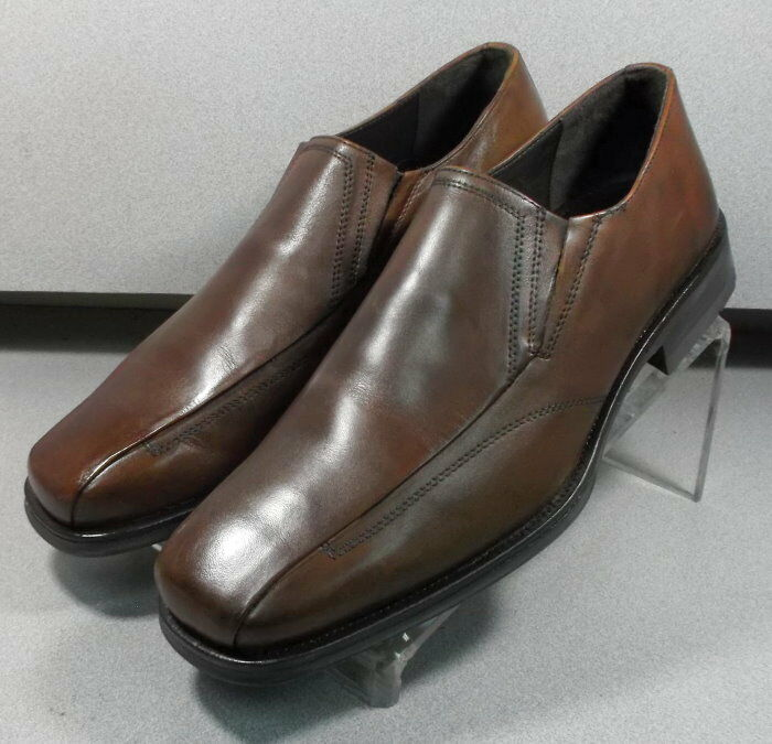 5931191 MS50 para hombres zapatos talla talla talla 9 M Marrón Cuero Slip On Johnston & Murphy 63c21d