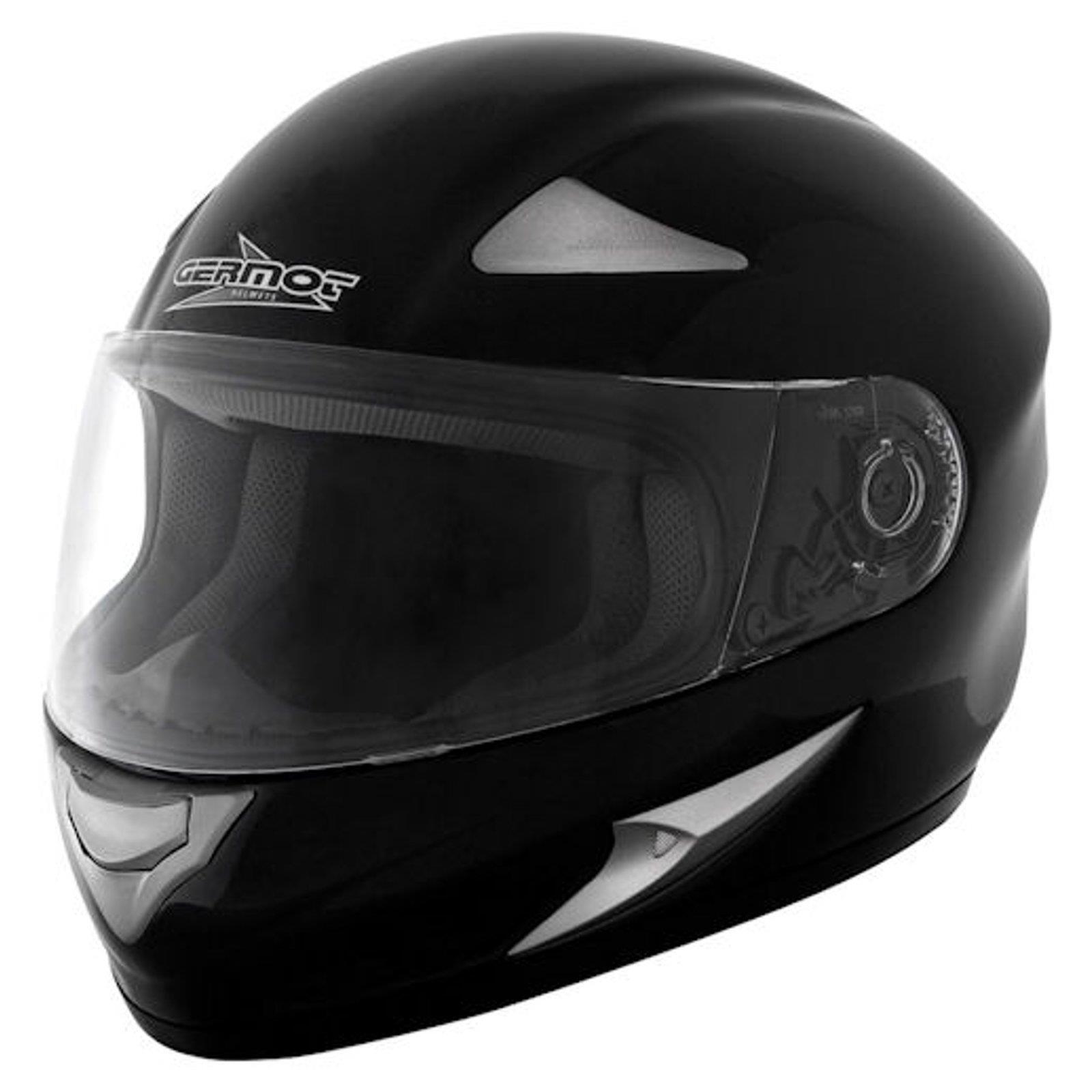 Germot GM 720 casco integral overTalla negro moto bicicleta visor resistente a los arañazos