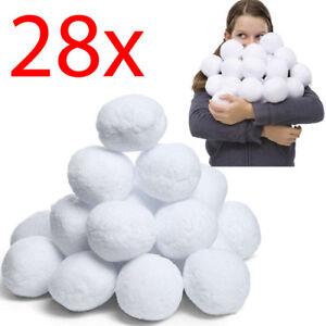 28PC Noël fausse boule de neige de Noël Neige Boule Arbre Hiver Mariage Decor throwing