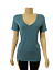 Victorias-Secret-PINK-Everyday-Solid-Teal-V-Neck-Tee-T-Shirt-Top thumbnail 1