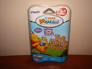 Vtech-V-Smile-Motion-Disney-WINNIE-THE-POOH-The-Honey-Hunt-Game