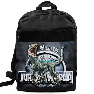 Boys Backpack Jurassic School Bag Childrens Kids Rucksack Personalised KS109