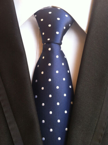 27 COLOR Classic Men/'s 100/% Silk Tie Necktie Polka Dots JACQUARD WOVEN Neck Ties