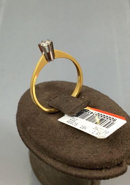 Gr.54 Antragsring Verlobungsring 750er Gold Solitär Diamantring Brillantring 18K