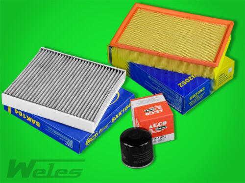FS409 INSPEKTIONSPAKET Luftfilter Ölfilter Aktivkholefilter FORD FOCUS II 1,6