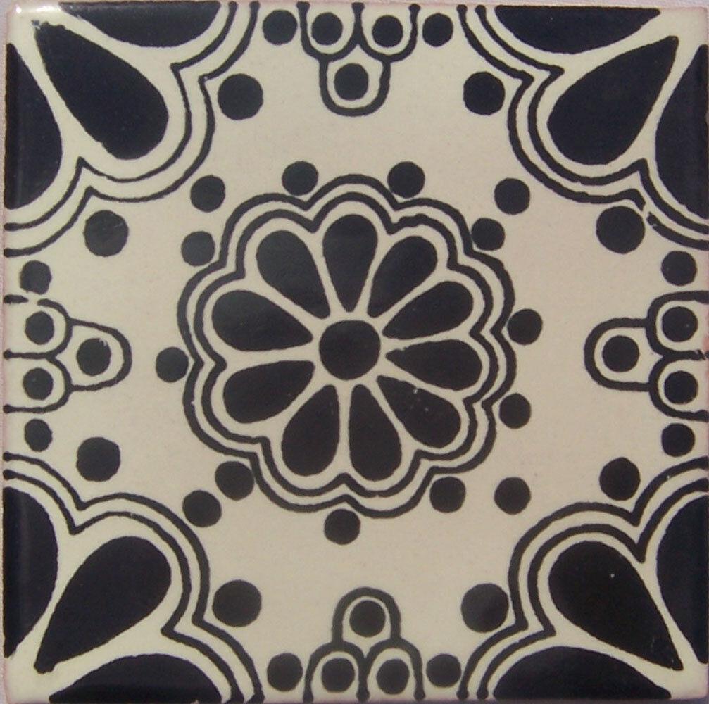 C231- Mexican Handmade Talavera Clay Tile Folk Art 4x4