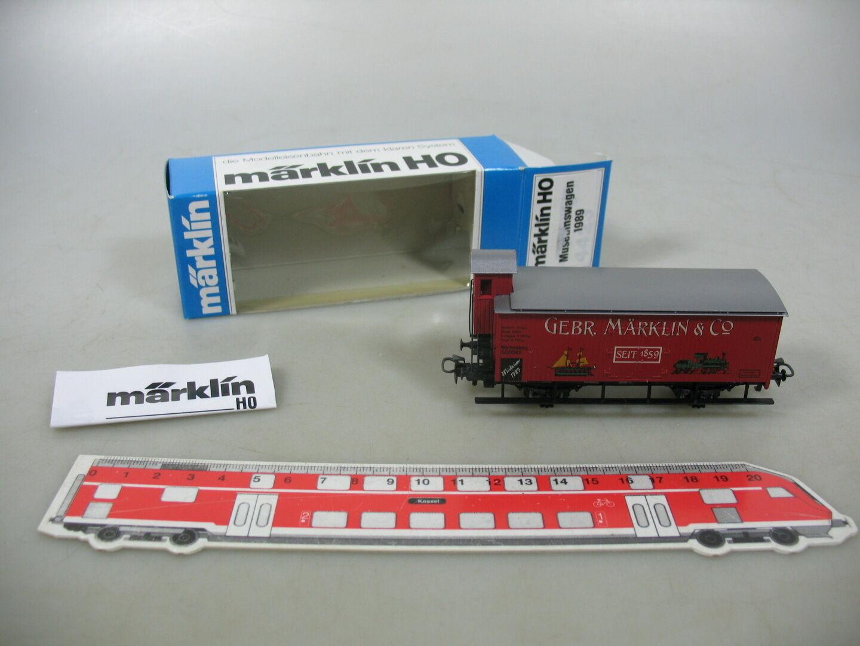 AN734-0,5Märklin Marklin H0 AC Güterwagen Museumswagen 1989 K.W.St.E., OVP