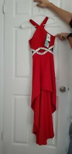 Red Formal Prom Homecoming Evening Dress Size 0 Small