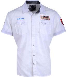 buy popular 63969 a1ba0 Details zu Ngta Herren Hemd Leinen Kurzarm Hemd Slim Fit Arbeit Freizeit  Weiß Sommer