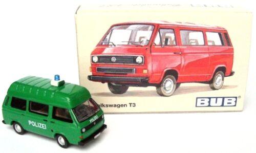 NEU Polizei Hochdach VW Bus T3 limitiert Bub // Bubmobile 1:87