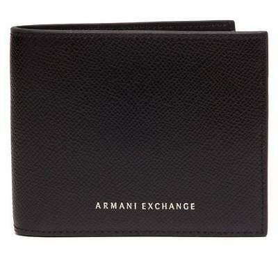 New Armani Exchange AX Mens Textured Bifold Leather Wallet  g6sa223