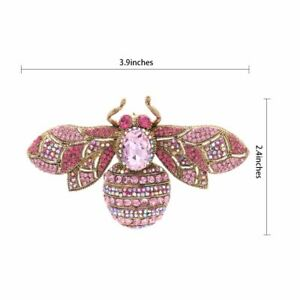 Charming-Vintage-Retro-Rhinestone-Crystal-Insect-Bee-Brooch-Pin-Woman-6608