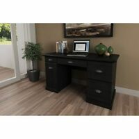 Computer Workstation Desk Modern Executive Wood Furniture Office Home