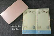 Travelers Notebook Refill Standard Size Inserts for Midori, Travel Daily Planner