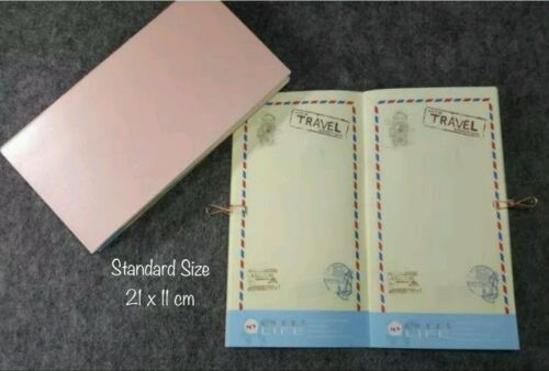Travel Daily Planner Travelers Notebook Refill Standard Size Inserts for Midori