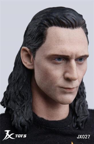 1//6 JXTOYS JX-027 The Avengers Loki Male Head Sculpt Fit 12/'/' Action Figure
