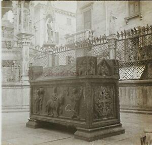 Italia-Eglise-Cenotaphe-c1910-Foto-Stereo-Placca-Da-Lente-VR12he