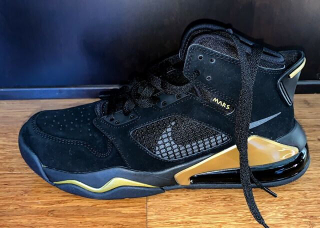 Jordan Boys Black Metallic Gold Mars 270 Bq6508 007 Shoes Size 7y OG All