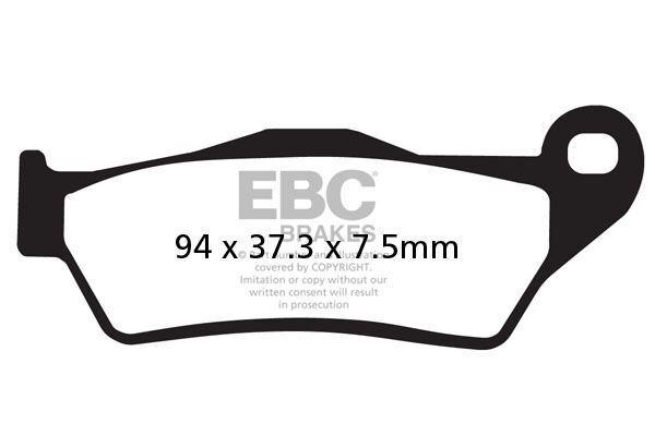 Para MBK XC 150 Vertex 97 EBC Delantero Pastillas de Freno Orgánicas