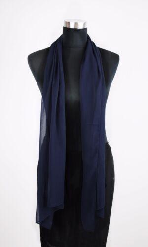 Chiffon Schal 23 Unifarben Farben Schal schlicht  Stola  Tuch