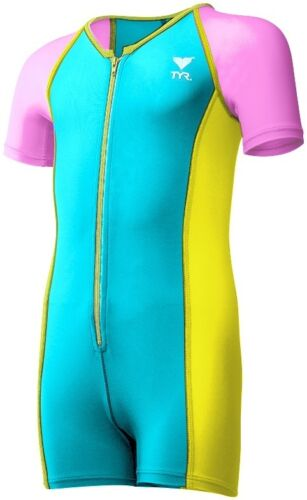 TYR Girls Solid Thermal Swim Suit 2019