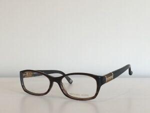 eb34764ea63a 205 Michael Kors MK 252 204 Rectangle Havana Brown Eyeglasses Frame ...
