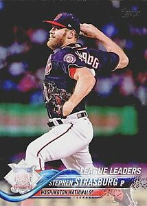 Stephen-Strasburg-2018-Topps-Series1League-Leaders-335-Washington-Nationals-NM