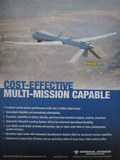 11/2013 PUB GENERAL ATOMICS AERONAUTICAL DRONE PREDATOR XP ORIGINAL AD