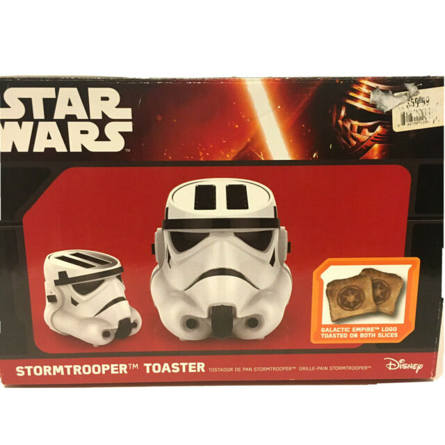 Disney Star Wars Stormtrooper Toaster- Toasts Empire's Icon Logo onto Your Toast