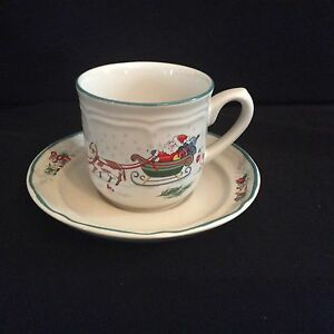 Image Is Loading Rare International Tableworks  Country Christmas Cup Amp Saucer
