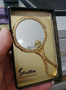 Vintage-Coming-Of-Age-Gifts-21st-Stratton-hand-mirror-Compact-beveled-Mirror