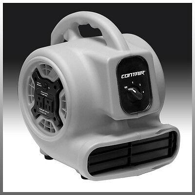 Contair® FLOW Air Mover Carpet Dryer Blower Floor Fan High CFM GFCI Plug Gray