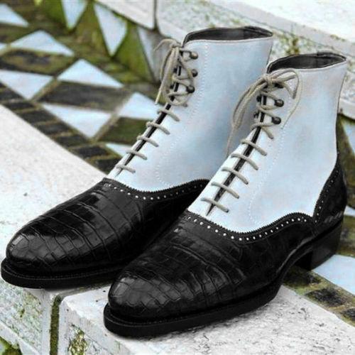 Zapatos de cocodrilo, de piel de cocodrilo.