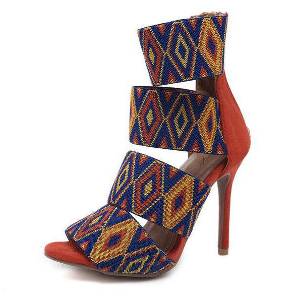 Sandalei colorati rosso stiletto eleganti sabot 11 colorati Sandalei rosso colorati ... 87807c