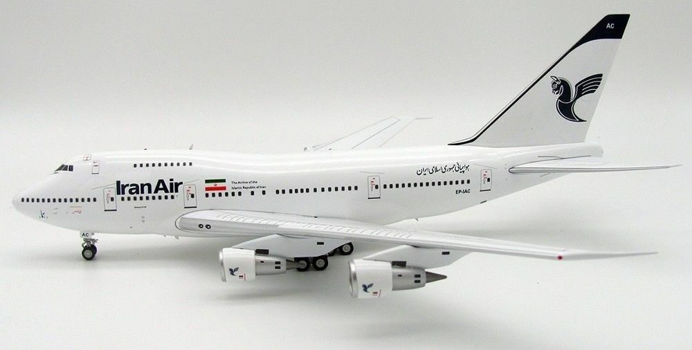 INFLIGHT 200 IF747SP001-2 1 200 IRAN AIR BOEING 747SP EP-IAC WITH STAND