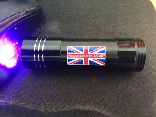 ULTRA VIOLET FISHING TORCH FOR GLOW IN THE DARK BAITS AND LEADS.