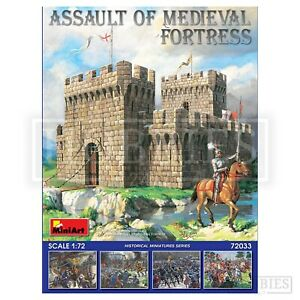Miniart-Assaut-de-forteresse-medievale-1-72-Chateau-comprend-Figures-Model-Kit
