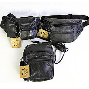 herren bag g rteltasche bauchtasche schultertasche echt leder 0705 a b c ebay. Black Bedroom Furniture Sets. Home Design Ideas