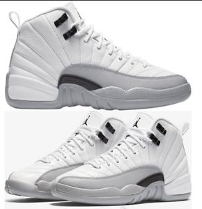 the best attitude 0dae6 31569 Nike Air Jordan 12 Retro XII GG GS Wolf Grey Barons 510815 108 ...