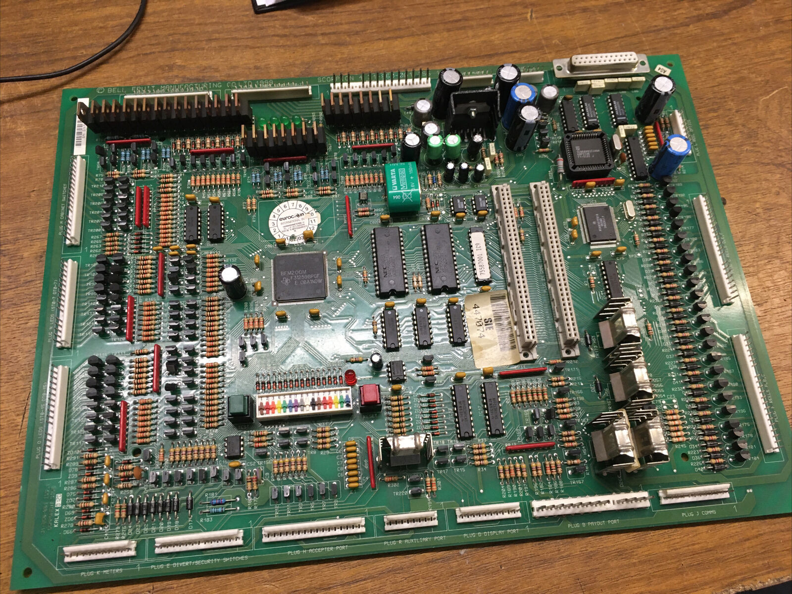 Fully Working BELL FRUIT SCORPION 4 31-860-001 BOARD WITH NEW BATTERY