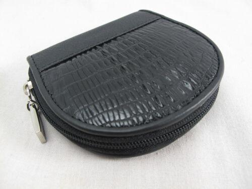 Free Shipping Genuine Crocodile Skin Leather Women Zip Coin Purse Wallet Black