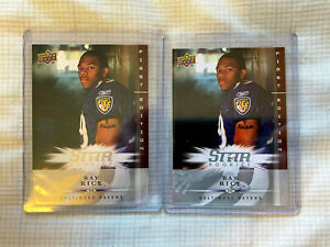 2X Ray Rice Baltimore Ravens 2008 Upper Deck First Edition Rookie Card LOT #187