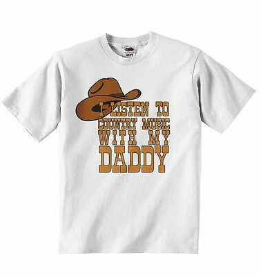 Smart I Listen To Country Music Mit My Daddy - Baby T-shirt T-shirts Kleidung - Unisex