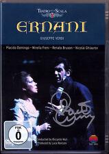 DVD Placido DOMINGO Signed VERDI ERNANI Freni Bruson Ghiaurov MUTI 92 Autograph