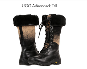 a7b5368e358 Details about UGG Adirondack Tall Model 1013508 W/ Black Women's Boots Size  5 NIB !$295