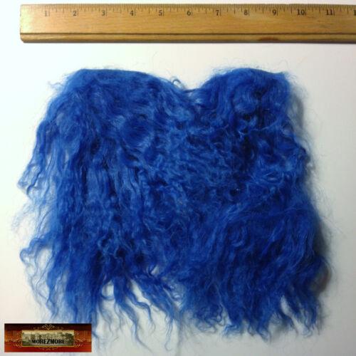 M01245 MOREZMORE Hair Tibetan Lamb Remnants DAZZLING BLUE Doll Baby Wig A60