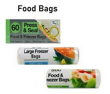 Strong Food /& Freezer Bags Used for freezing all food Type 60,250/&500 Pack