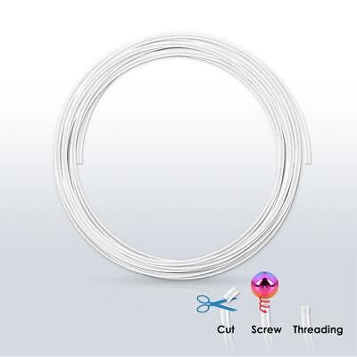 1 PIECE 16g PTFE Flex Clear Retainer Eyebrow Tragus Cartilage Ear