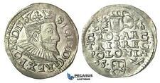 T45, Poland, Sigismund III, 3 Groschen (Trojak) 1595 I/F, Wschowa (Fraustadt) Si