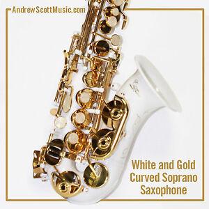 curved soprano saxophone white masterpiece ebay. Black Bedroom Furniture Sets. Home Design Ideas